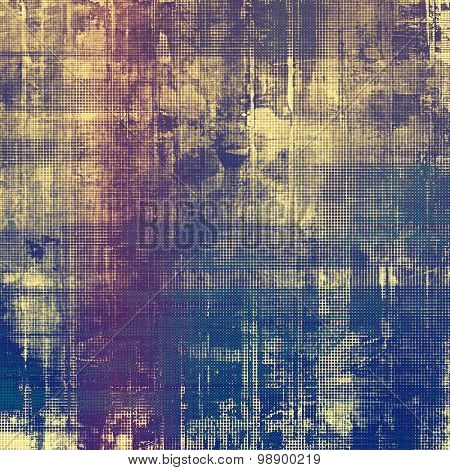 Vintage old texture with space for text or image, distressed grunge background. With different color patterns: yellow (beige); brown; purple (violet); blue