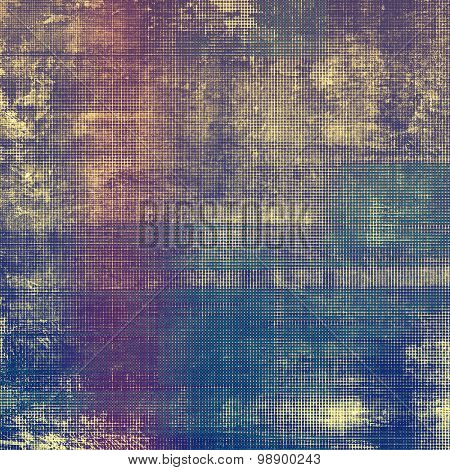Vintage old texture with space for text or image, distressed grunge background. With different color patterns: yellow (beige); blue; purple (violet); pink