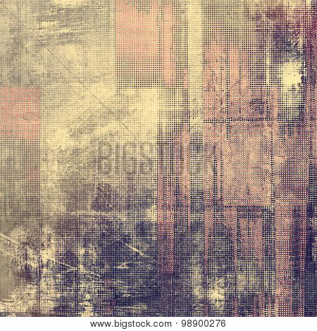 Grunge texture, may be used as retro-style background. With different color patterns: yellow (beige); purple (violet); gray; pink