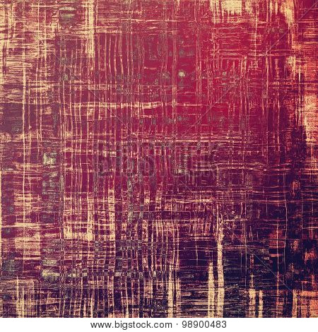 Old grunge background with delicate abstract texture and different color patterns: brown; red (orange); purple (violet); pink
