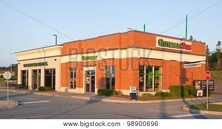 Quiznos And Starbucks Storefront