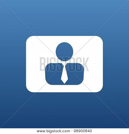vector icon man inside social people technology