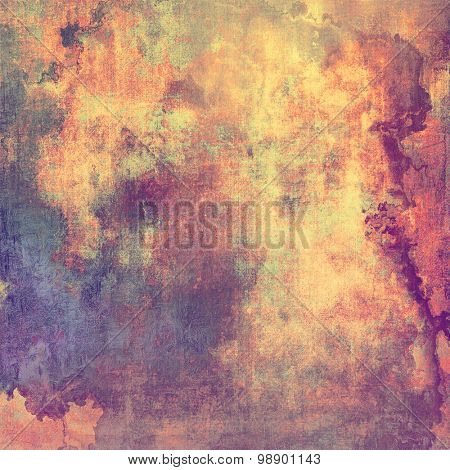 Old abstract grunge background, aged retro texture. With different color patterns: yellow (beige); red (orange); purple (violet); pink