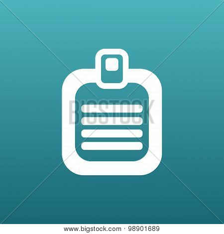 Check list vector icon Flat design isolated document