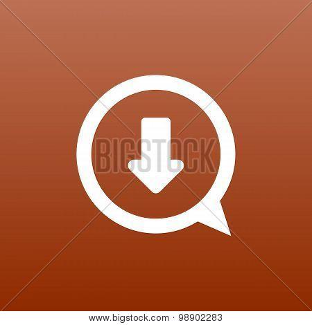 Arrow down bottom sign pictogram Vector symbol icon