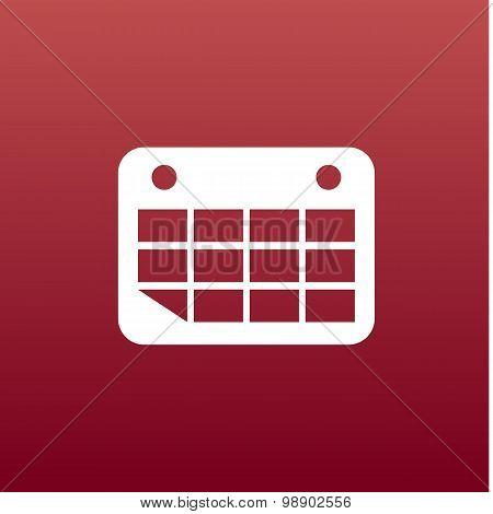 Vector calendar icon Flat design
