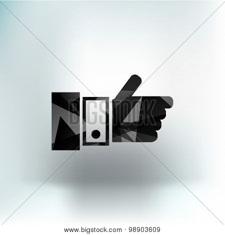 Pointing hand icon vector finger pointer touch