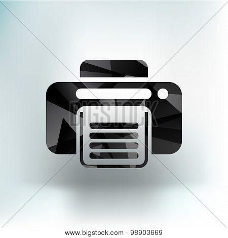 fax icon vector design printer document print