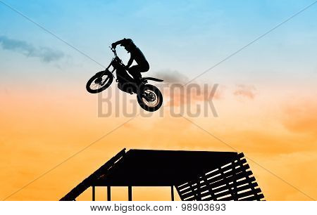 Jump With Motorbike