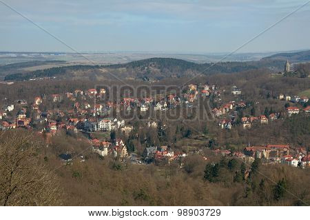 View Of Eisenach From Wartburg