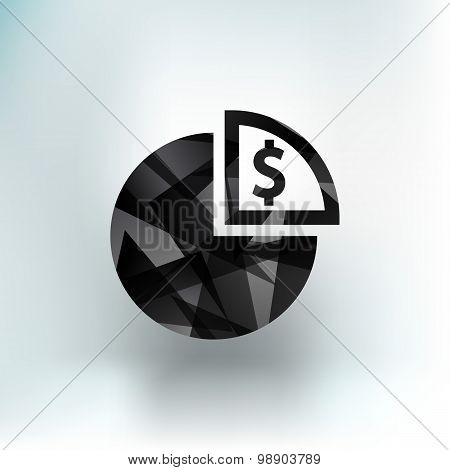 Business Infographics circle graph Vector illustration