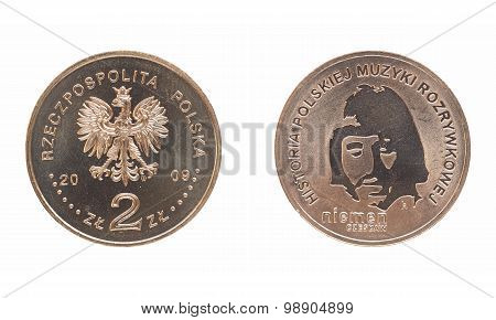 Czeslaw Niemen Polish Coin Front And Rear