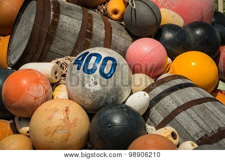 Vintage Fishing Buoys Barrels