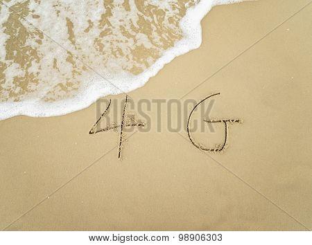 4g written in the sand