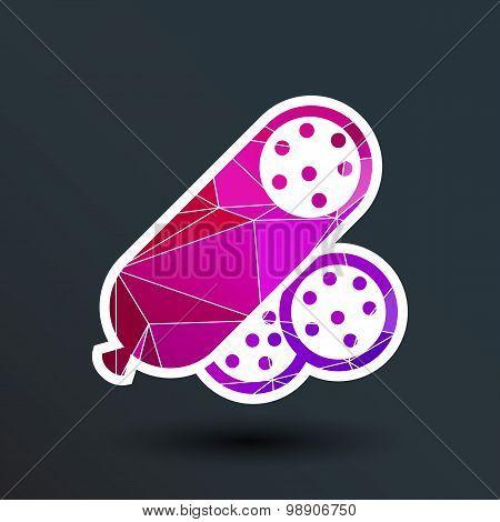 beef delicious sausage food logo design icon