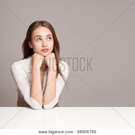 Pensive Brunette Beauty.