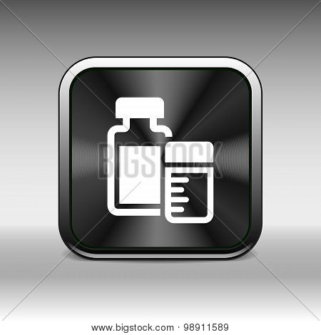 medication icon vector chemistry Flat design style