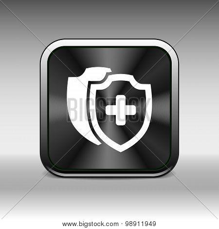 Vector Medical Shield Icon shield flat health cross medical