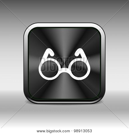 Vector Round Glasses Icon Symbol vision specs decoration