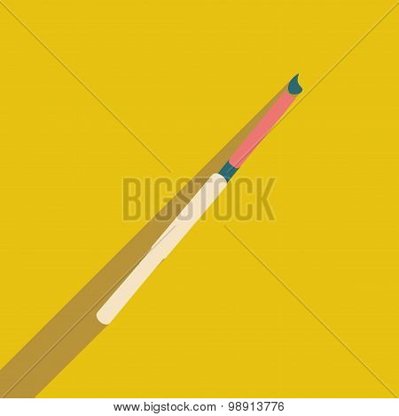 Flat with shadow icon and mobile application cigarette holder