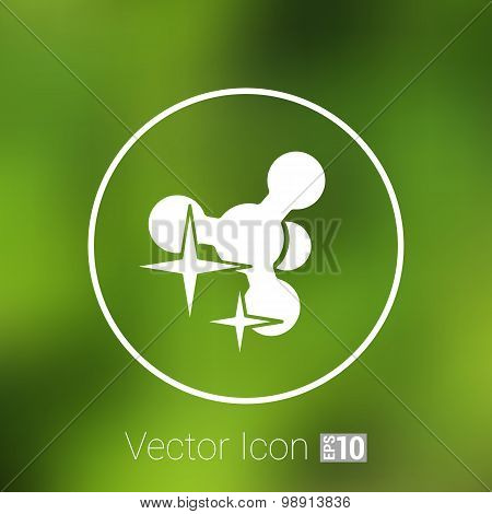 Molecule Icon isolated glossy illustration shiny atom
