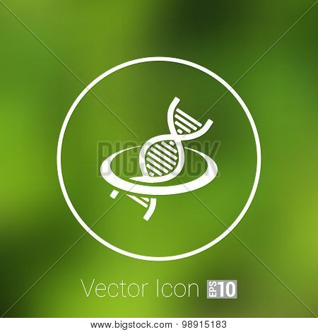 Vector DNA icon life strand symbol curve graphic genetic
