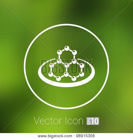 icon molecular research chemistry medicine molecule atom vector