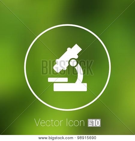 Black microscope icon vector illustration symbol medical