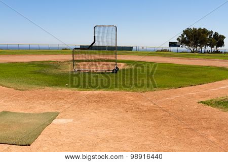 Baseball Field By The Pacific Ocean
