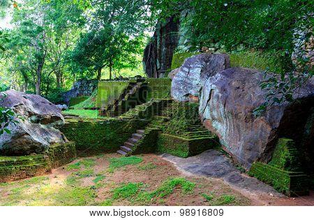 Old Ruins of Sigiriya Castle, Sri Lanka