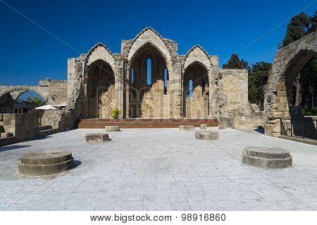 Ruins Of 14Th Century Rhodes