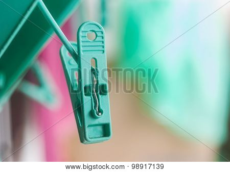 Green Clips For Clothes