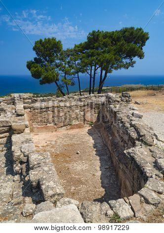 Ancient Ruins Of Kamiros On Rhodes