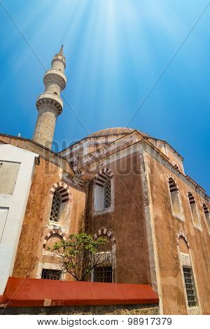 Mosque In The Old Rhodes Town Centre
