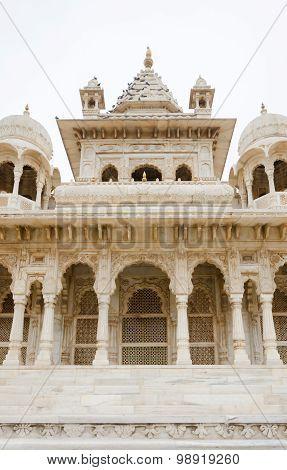 Jaswant Thada. Ornately Carved White Marble Tomb Of Jodhpur