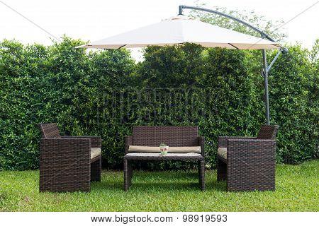 Set Of Rattan Garden Furniture
