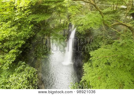 Waterfall in a gorge