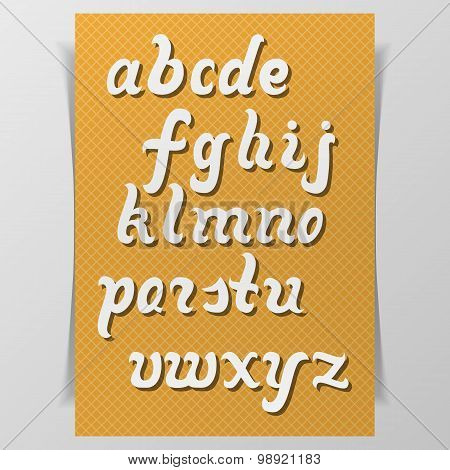 Latin Alphabet. Hand drawn Letters