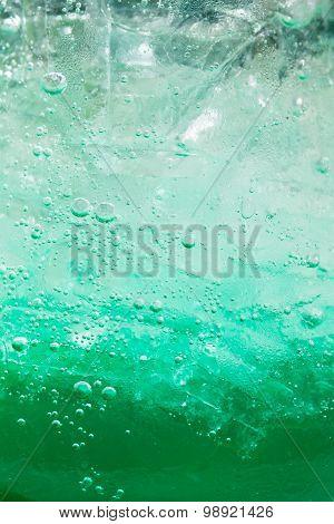 Green fizzy drink