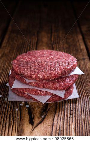Some Fresh Made Burgers