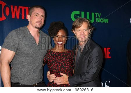 LOS ANGELES - AUG 10:  Steve Howey, Shanola Hampton, WIlliam H Macy at the CBS TCA Summer 2015 Party at the Pacific Design Center on August 10, 2015 in West Hollywood, CA