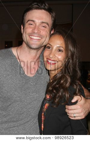 LOS ANGELES - AUG 15:  Daniel Goddard, Christel Khalil at the
