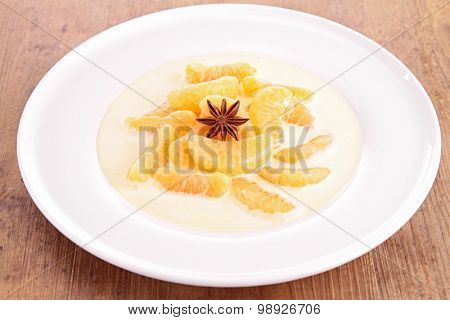 clementine and anise dessert