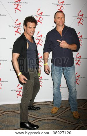 LOS ANGELES - AUG 15:  Christian LeBlanc, Sean Carrigan at the