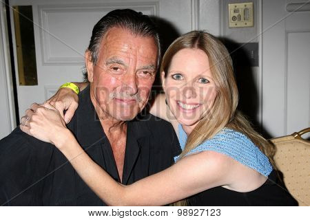 LOS ANGELES - AUG 15:  Eric Braeden, Lauralee Bell at the