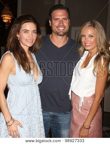 LOS ANGELES - AUG 15:  Amelia Heinle, Joshua Morrow, Melissa Ordway at the