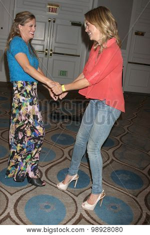LOS ANGELES - AUG 15:  Melissa Claire Egan, Kelly Sullivan at the