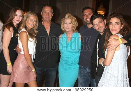 LOS ANGELES - AUG 15:  Newman Family at the