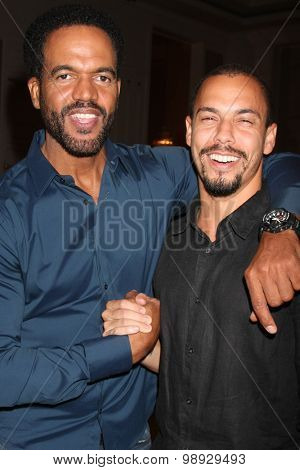 LOS ANGELES - AUG 15:  Kristoff St. John, Bryton James at the