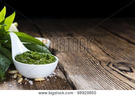Homemade Ramson Pesto